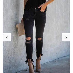 Vici Dolls black ankle length denim. Mid rise